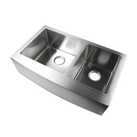 stainless farmhouse sink 33 60 40 double bowl scratch resistant rh pinterest ru