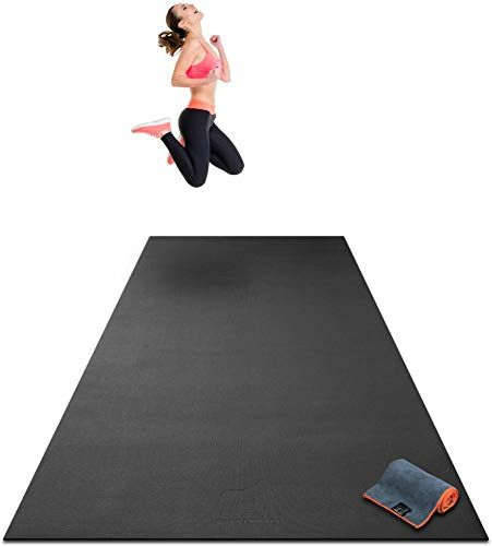 Chic Premium Extra Large Exercise Mat 10 X 4 X 1 4 Ultra Durable Non Slip Workout Mats For Home Gym Floo Large Workout Mat Gym Flooring Home Gym Flooring