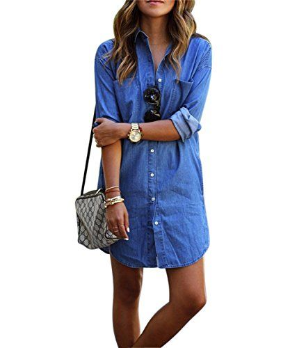 Denim kleid damen Sondereu Minikleid jeans Jeanskleid damen