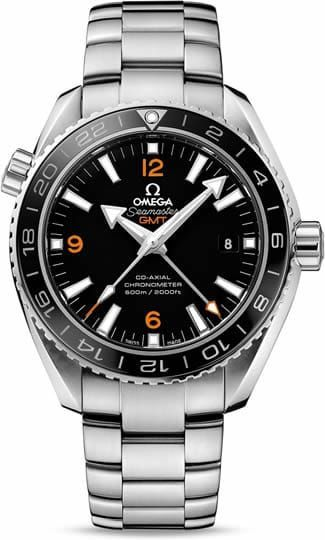 Planet Ocean 600M Omega Co-axial GMT 43.5mm 232.30.44.22.01.002The OMEGA Seamaster Planet Ocean 600M GMT is water resistant to 60 bar (600 metres / 2000 feet), and has a helium-escape valve. The OMEGA Co-Axial calibre 8605 at the heart of this certified chronometer timepiece can be seen through the transparent caseback.