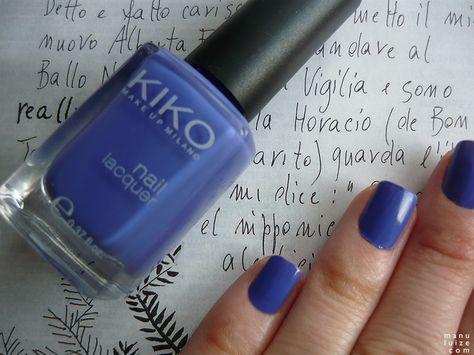 Esmalte roxo Kiko Make Up Milano #nailpolish #violet