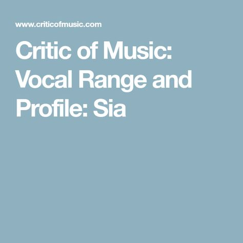 Vocal Range: Bb2 - F#5 - C6 (Bb6) Vocal Rating: A - Rating Vocal ...