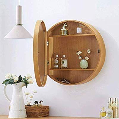Amazon Com Sdk Round Bathroom Mirror Cabinet Bathroom Wall Storage Cabinet Mirror Medicine Cabine Wall Storage Cabinets Bathroom Wall Storage Mirror Cabinets