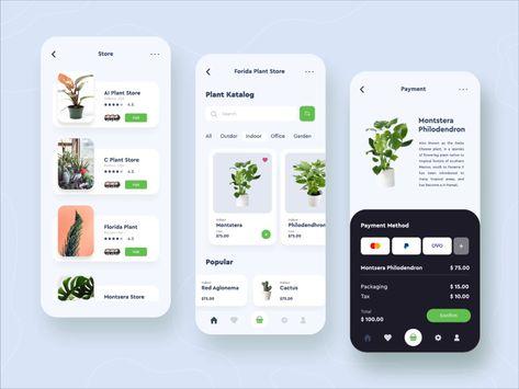Online Plant Shop Mobile App Design