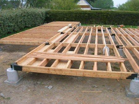 Ossature bois en atelier Small Homes Pinterest Construction