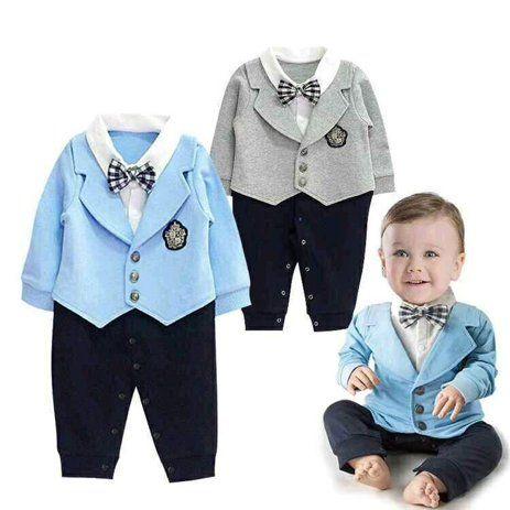 Canis 1pcs Dressy Kid Baby Boy Gentleman Romper Jumpsuit Bodysuit Clothes Outfit 0 24m Walmart Com Boy Outfits Baby Outfits Newborn Body Suit Outfits