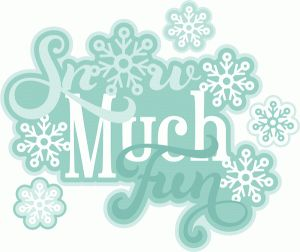 Silhouette Design Store - View Design #53356: snow much fun title