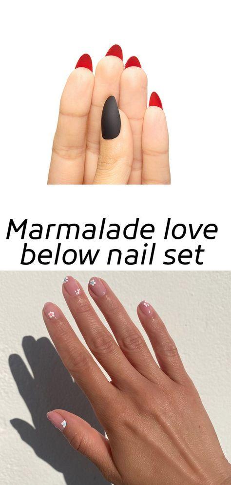 Marmalade love below nail set