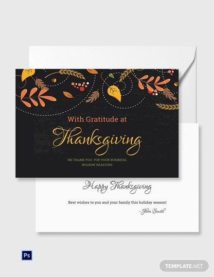 Free Business Thanksgiving Greeting Card Template Psd Greeting Card Template Thanksgiving Greeting Cards Thanksgiving Greetings