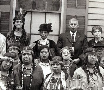 Photo of Jim Crow-Feather (racism against 'black' Native Americans)
