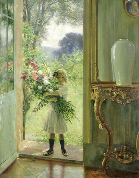 """""""From the Garden"""" ~ Jules Alexis Muenier (French, 1863-1942)"""