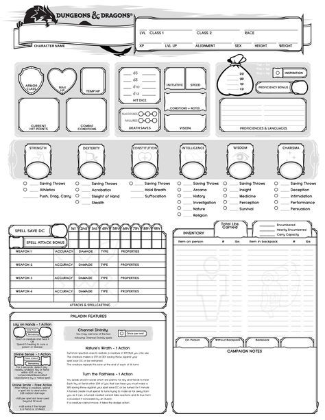Pin by Aaron Culbertson on dnd in 2019 | Character sheet