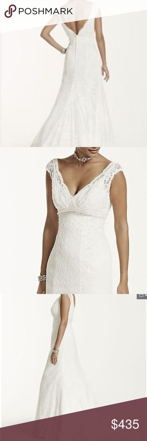 50cdac797d NEW Wedding Lace Beaded Trumpet Ivory T9612 Sz 4 NEW with tags - never worn