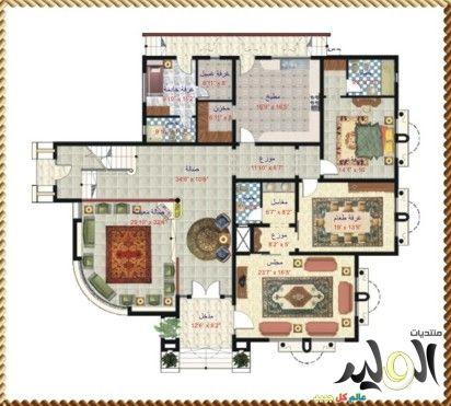 اجمل تصاميم الفلل الحديثة The Most Beautiful Designs Modern Villas House Map Architectural House Plans Dream House Plans