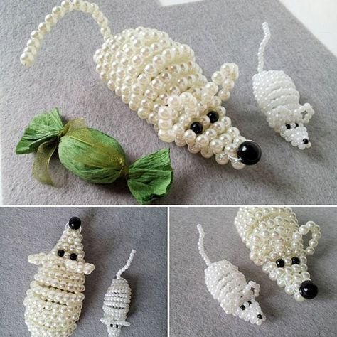 Awww! Cute beaded mice? or this large one is a rat?! Anyway You can order them in my Etsy shop, link in bio! #guestfavors #kidsbirthdayfavors #candyholder #etsy #etsyshop #craft #wirecraft #bead #beadedanimal #beadedmouse #mouse #mice #rat #labrats #labmouse #favor #centerpieces #tablecenterpiece #birthdayaccesories #kidsgifts #babyshowergifts #cute #biser #etsyseller #etsylatvia #pele