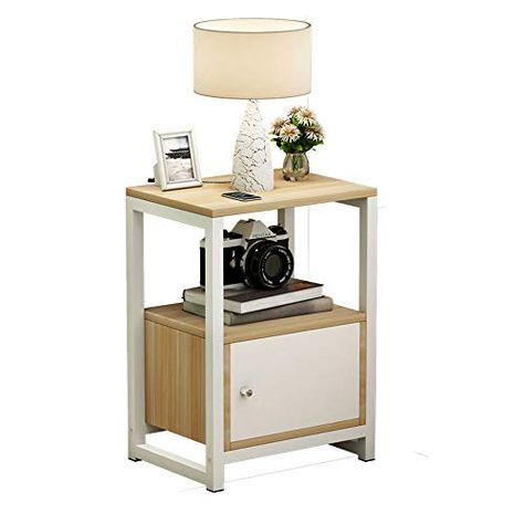 Unicco Inc Bedside Table Simple Modern Wooden Assembled Mini