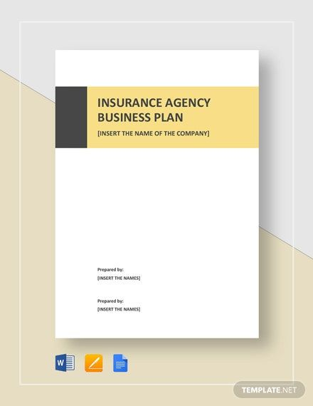 Insurance Agency Business Plan Template Free Download