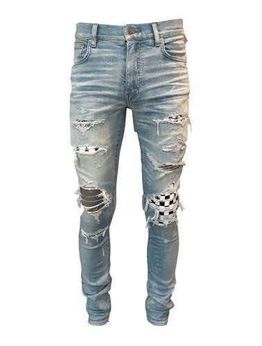 nice shoes biggest discount buy Amiri Art Patch Jeans - Blue - Size US36 - Amiri   Men ...