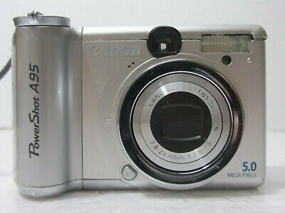Canon Powershot A95 5 0mp Digital Camera Silver Digital Camera Camera Powershot