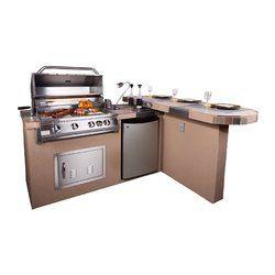 Aspen 32 4 Burner Propane Natural Gas Bbq Grill Islands With Images Outdoor Kitchen Outdoor Kitchen Island Outdoor Kitchen Design