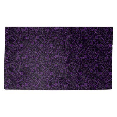 Latitude Run Avicia Rpg Black Purple Area Rug Rug Size Rectangle 5 3 X 7 2 Purple Area Rugs Indoor Door Mats Color Lines