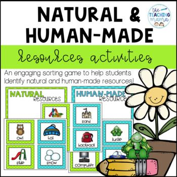 Natural Resources And Human Made Resources Sort Distance Learning Teaching Mama First Grade Lessons Resources