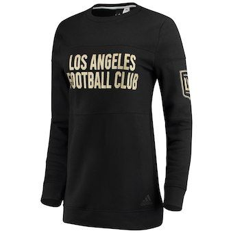 4dfb5037a Women s LAFC adidas Heathered Black Team Dominance Long Sleeve Tunic  Sweatshirt