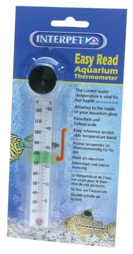 From 3 09 Interpet Easy Read Aquarium Thermometer Fish Tank Tanked Aquariums Thermometer