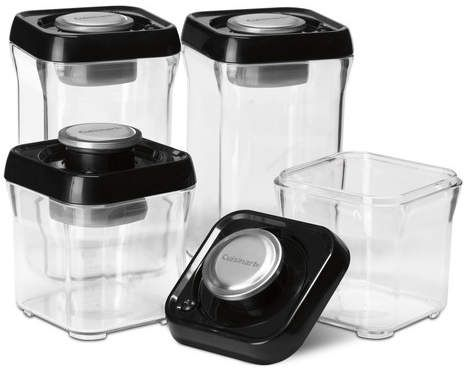 Cuisinart Fresh Edge Containers 6 Piece Vacuum Pump System On
