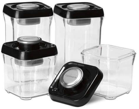 Cuisinart Fresh Edge Vacuum Seal 8 Container Food Storage Set