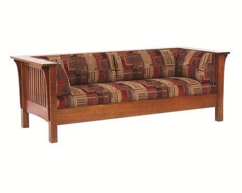 amish mission prairie sofa mission stuff craftsman furniture rh pinterest com