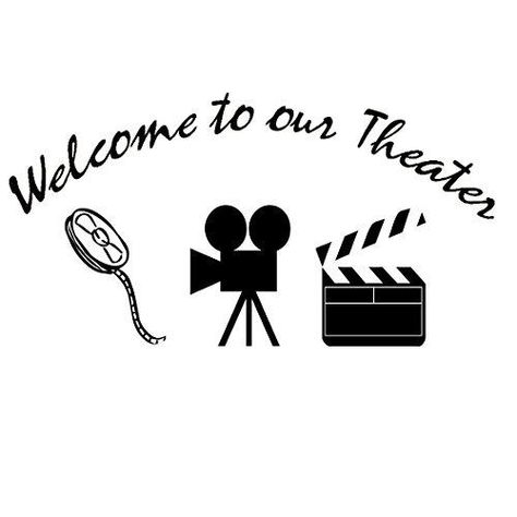 Home Movie Theater Decor Wall Decal Welcome to Our Theater Wall Art - Default