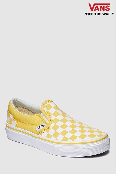 Youth Trainer - Yellow   Buy vans, Slip