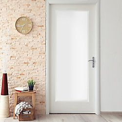 Milette 24 Inch X 80 Inch Primed 1 Lite French Door With White Laminated Tempered Glass The Home Depot C White Laminate Doors Interior Door Hardware Interior