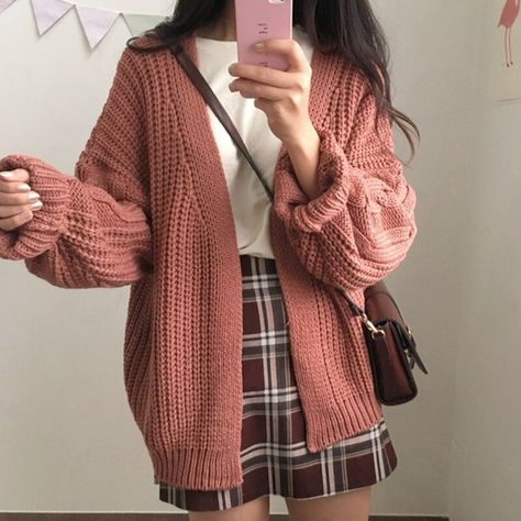 24.96US $ |Brand Korean Style Women Loose Cardigan Autumn Winter Warm Sweater Kawaii Girl Casual Long Knitted Cardigan Outwear New|Cardigans|   - AliExpress