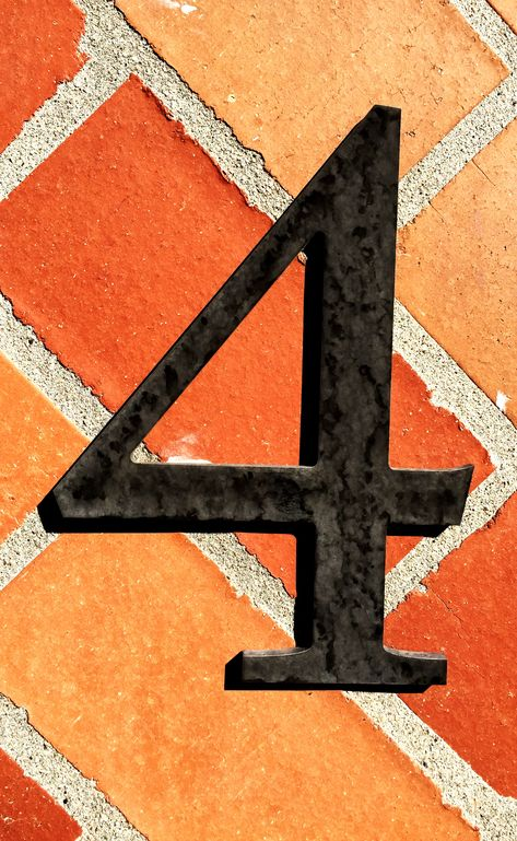 4 No. 33 #4, #number, #typography