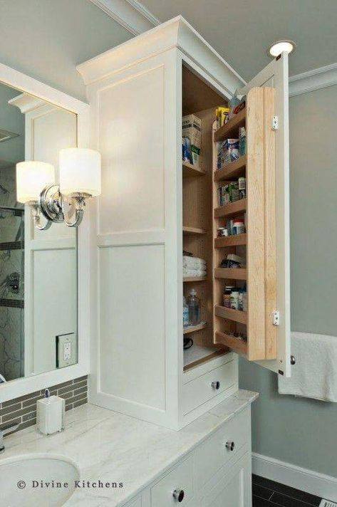 50 Clever And Creative Bathroom Storage Ideas For The Smart Homemaker Bathroom Linen Tower Bathrooms Remodel Traditional Bathroom