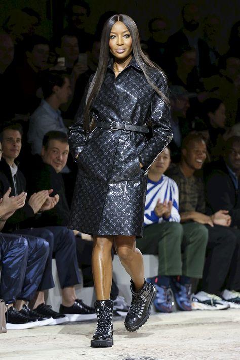 "midnight-charm: ""Naomi Campbell at Louis Vuitton Fall / Winter 2018 Menswear """