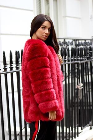 Faux Coat Long Fur, Red Faux Fur Coat Uk