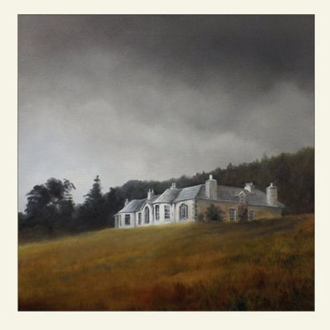"""Greetings Card from an original oil painting by Clive Barrett. Boleskine House, located on the banks of Loch Ness, was once the home of Aleister Crowley - known as """"the wickedest man in England"""". Later it was owned by Jimmy Page of the rock band Led Zeppelin. Approximately 14.5"""