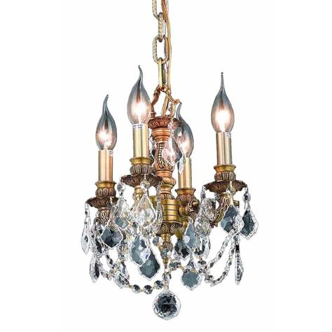 Elegant Lighting 9103D10PW//RC Lillie Collection 3-Light 1 Pewter Chandelier With Clear Royal Cut Crystal