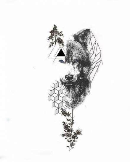 65 Ideas For Tattoo Designs Wolf Artists Arm Tattoo Geometric Tattoo Animal Tattoos