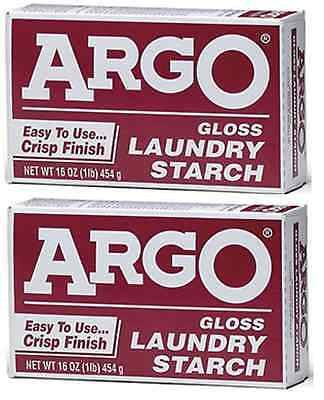 Fabric Softeners 172212 Argo Laundry Starch 2 Boxes 1lb Each Play