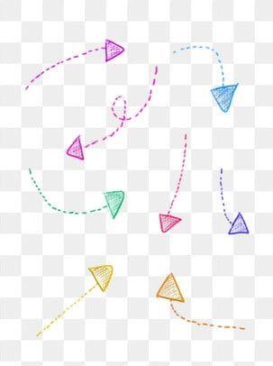 Bunte Gestrichelte Pfeile Pfeil Clipart Gepunkteter Pfeil Bunte Und Schone Dekoration Png Und Psd Datei Zum Kostenlosen Download Arrow Clipart Clip Art How To Draw Hands