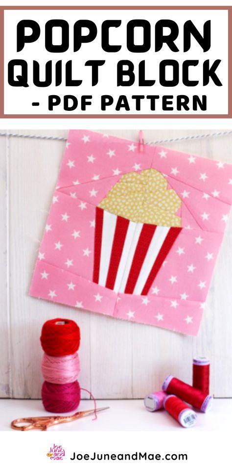 PDF instant download home Decor Popcorn Quilt Block Pattern Popcorn  pattern Modern Quilt Pattern