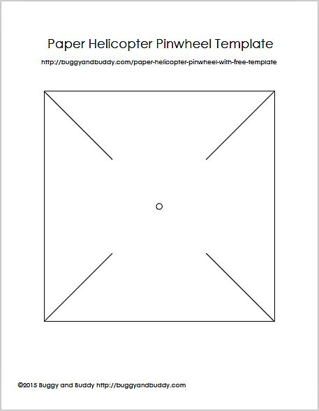 Paper Helicopter Pinwheel With Free Template | Activities, Free