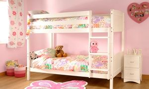 Pine Bunk Bed Frame With Two Optional Mattresses Loft Bed Frame