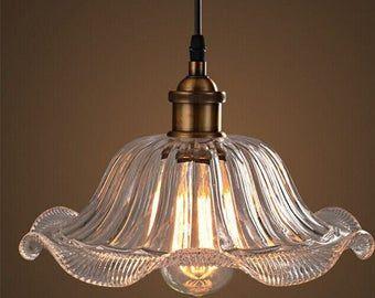 3d Effekt Glas Anhanger Licht Spiegel Oberflache Lampe Farbe Etsy In 2020 Pendant Light Glass Pendant Light Light