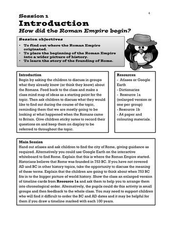 Romans Lesson (Y3/4) - Romulus and Remus   Romans in Britain KS2 ...