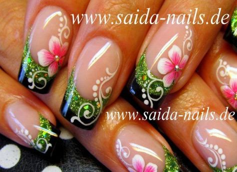 glitter-french-flowers